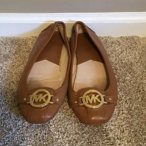 Michael Kors Luggage Leather Flats